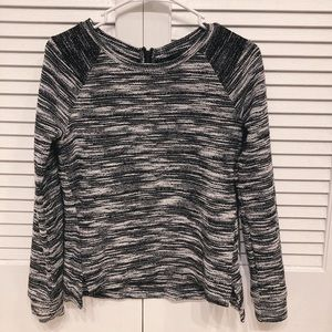 Banana republic black and white sweater